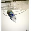 Cuarzo turmalinado con lapislázuli y aguamarina